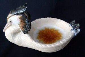 VTG-Porcelan-Artistica-Levantina-No23-Grebe-Dish-8-In-Rare-FREE-Delivery-UK
