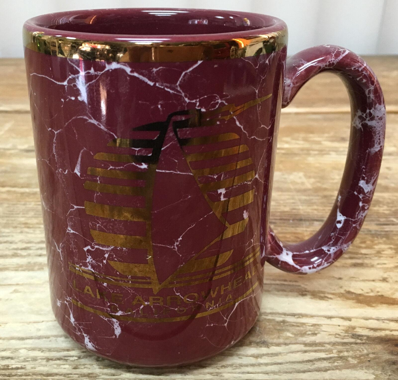 Kaffeetasse See Pfeilspitze Rot Marblized Goldrand USA Adler Souvenir Souvenir Souvenir Stiefel Kan.   Gewinnen Sie das Lob der Kunden  886624