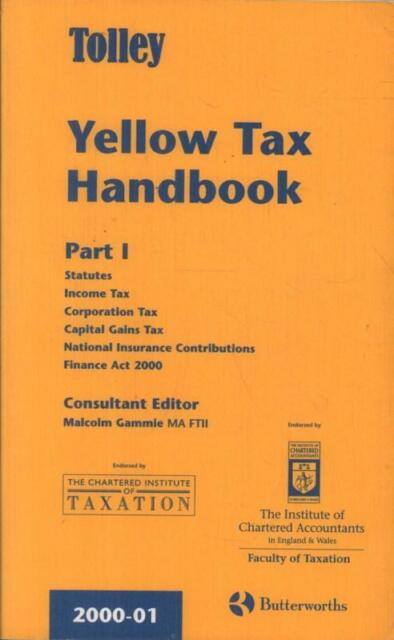 Tolley Yellow Tax Handbook(Paperback Book)Malcolm Gammie-2000-Good
