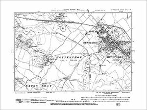 Dunstable Totternhoe old map Bedfordshire 1902 32NW eBay
