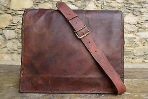 Leather-Vintage-Messenger-Shoulder-Men-Satchel-And-Laptop-Office-Briefcase-Bag