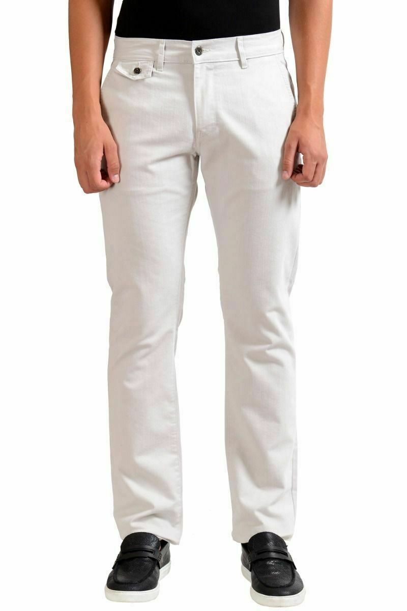 7bda5a487 Versace Collection Off White Stretch Pants Size 30 40 Casual Men's ...