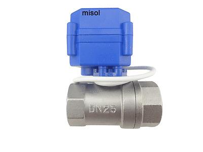 "misol / 10 x motorized valve G1"" DN25 2 way 12VDC CR01, stainless steel"
