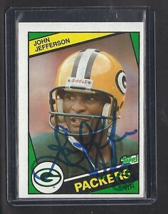 1984-PACKERS-John-Jefferson-signed-card-Topps-268-AUTO-Autographed-Green-Bay