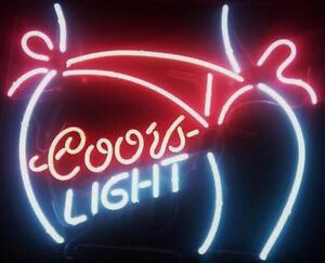 New coors light bikini girl beer bar pub neon light sign 19x15 image is loading new coors light bikini girl beer bar pub mozeypictures Gallery