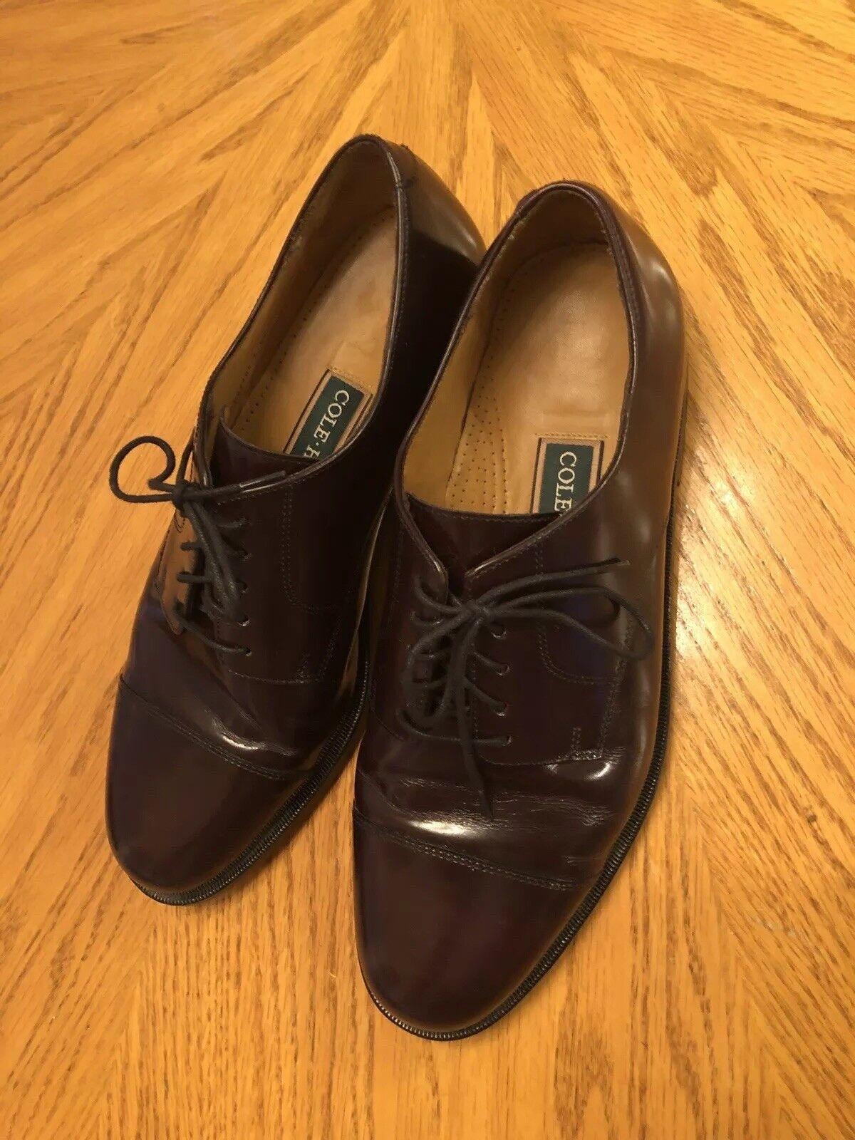 Cole Haan Men's Oxfords Oxfords Oxfords Leather Burgundy Captoe Größe 10D fdb7f1