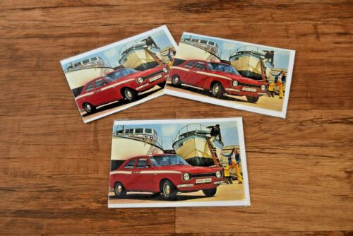 Classic Ford Escort Mexico greetings card