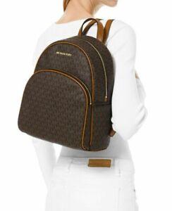 Details zu MICHAEL KORS Damen Tasche ABBEY MD BACKPACK Rucksack braun 35F8GAYB2B