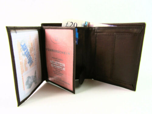 Mens Womens Genuine Leather Wallet Credit Card Holder Coin pouch Purse ID