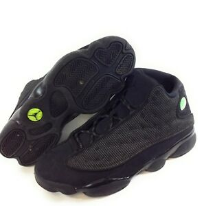 f89258e6a71e Pre-owned Mens Nike Air Jordan Retro 13 Black Cat Sneakers 414571 ...