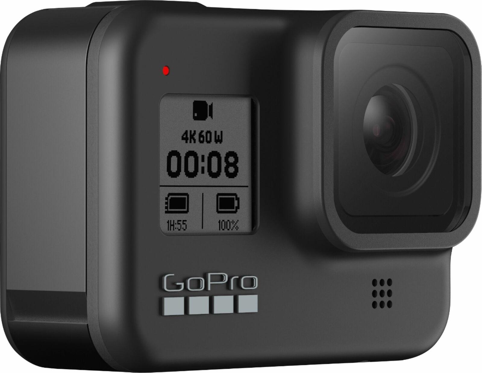 GoPro HERO8 Black - 4K Waterproof Action Camera, 12MP