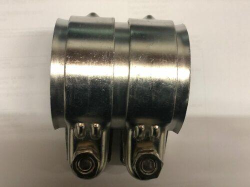 Universal Auspuff Rohrverbinder mit Doppelschelle Edelstahl 48x90 mm