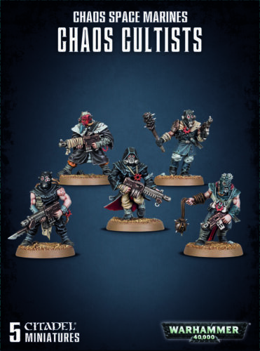 40k Chaos Space Marines ETB Cultists Warhammer Cultist Traitor Guard THG