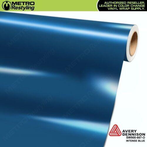 Avery SW900-667-O GLOSS INTENSE BLUE Vinyl Vehicle Car Wrap Decal Sheet Roll