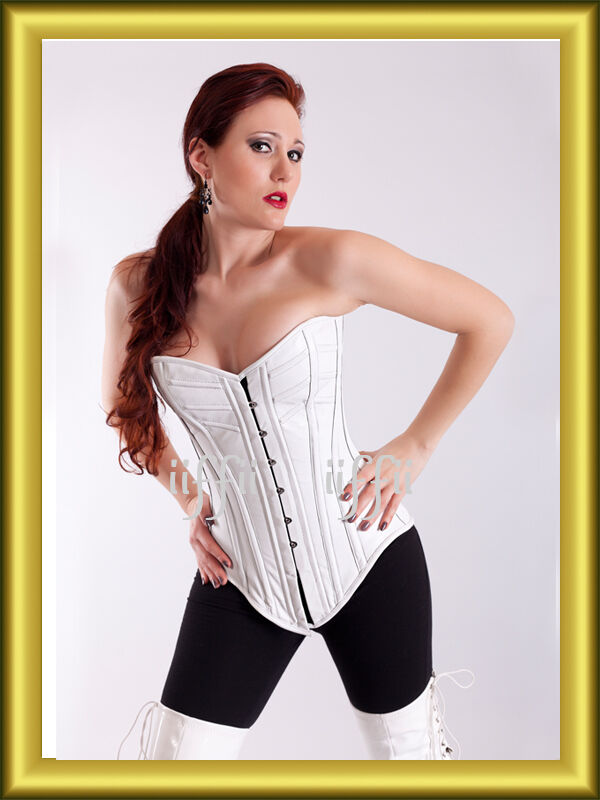 Full-breast Corset Corset Extra Long from Leather Size 34,36, 38,40, up to 56