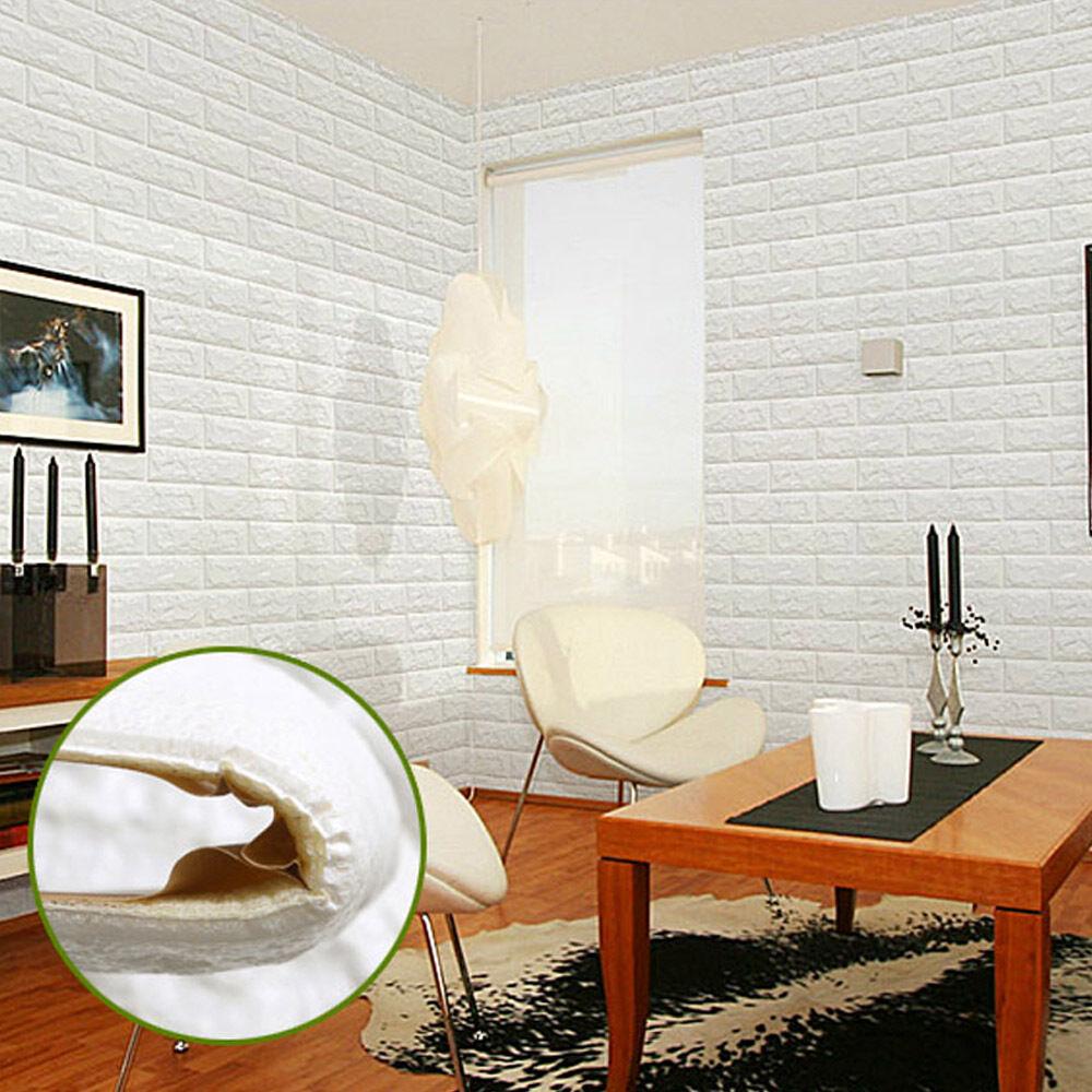 5 10 30x Pe Foam 3d Brick Wall Sticker Self Adhesive Diy