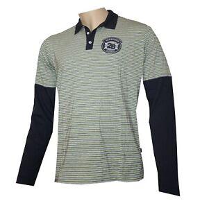 Schneider Sportswear Herren Polo Shirt - T-Shirt Langarm Knopfleiste Gr. M (50)