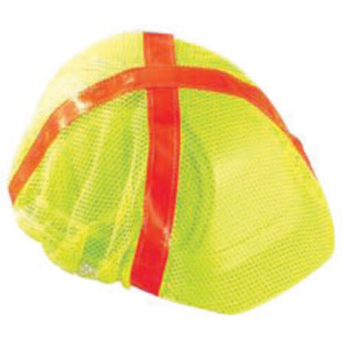Hardhat Mesh  Reflective Covers for Cap Style Hard Hats with orange stripes