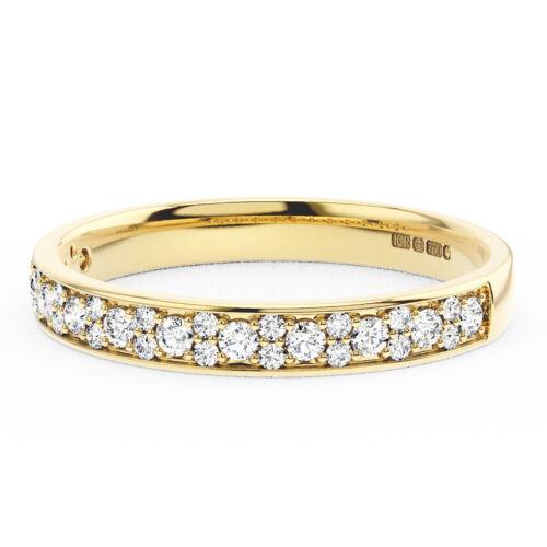 0.30CT Round Brilliant Cut Diamonds Half Eternity Wedding Ring in 9K Yellow Gold