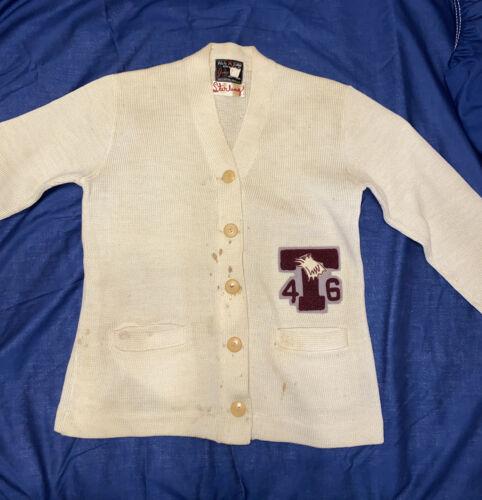 Vintage 1946 Jones Knitting Mills Letterman Cardig