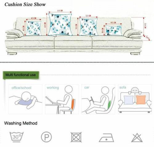18/'/'  Maple Leaf Pillow Case Cotton Linen Sofa Cushion Cover Throw Home Decor