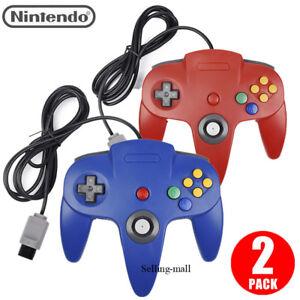 N64 Controlador Joystick Gamepad largo con cable para juegos de consola Clásico Nintendo 64