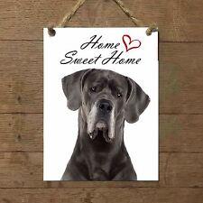 ALANO Home Sweet  home mod 1 Targa piastrella cartello ceramic tile dog