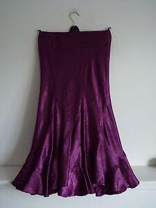 Ladies-Beautiful-Precis-Petit-Crushed-Purple-Full-Length-Peplum-Skirt-Size-10-V