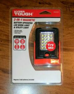 Hyper Tough 2 In 1 Magnetic Battery Operated Led Work Utility Light Sealed