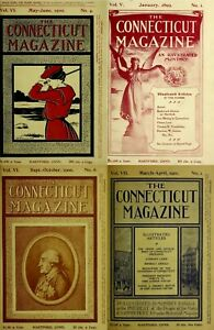 THE CONNECTICUT QUARTERLY & THE CONNECTICUT MAGAZINE (1895-1908) HISTORY RECORD