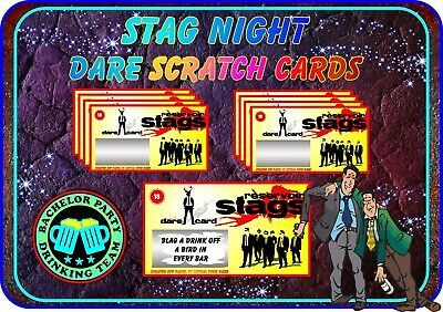 Serbatoio Stag Scratch Schede Divertente Osare Scratchcards Inviti Matrimonio Cani-mostra Il Titolo Originale