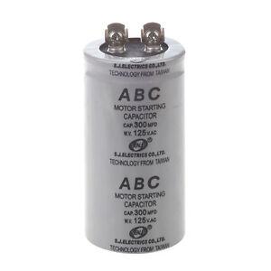 AC-125V-300uF-300MFD-2-Terminals-Polypropylene-Film-Motor-Run-Start-Capacitor-DT