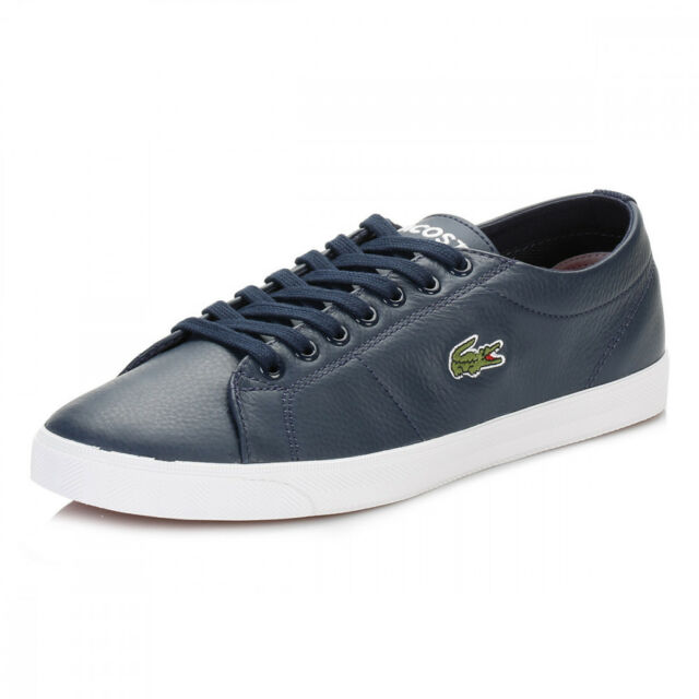 7c44f5729a1af3 Lacoste Men s Marcel Riberac LCR3 SPM Leather Shoes Trainers - Navy