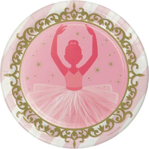"8 x TWINKLE TOES 8.5/"" PAPER PLATES GIRLS BIRTHDAY PARTY CHILDRENS TABLEWARE"
