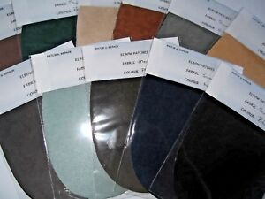 FAUX SUEDE //SUEDETTE ELBOW PATCHES//TRIMMINGS-10 GREAT COLORS SOME LIMITED  STOCK