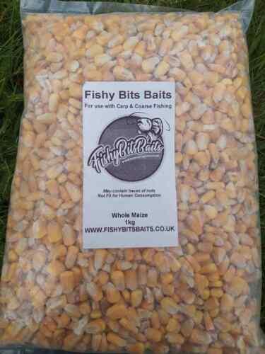 Poissounet Bits Appâts entiers Maïs 1 kg pour la carpe//Coarse Fishing