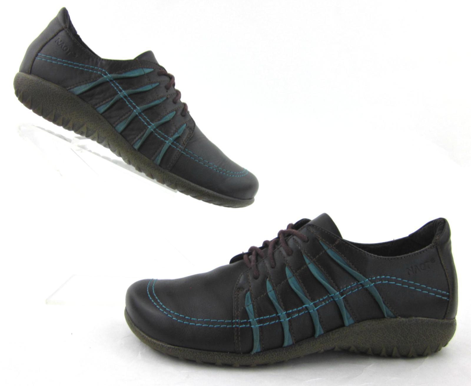 Naot Tanguru Lace Up Oxfords Schuhes Braun / 38 Teal Leder EU 38 / US 7 bcfb70