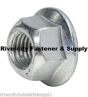 M8-1.25 /& M10-1.5  Metric Hex Flange All Metal Lock Nuts Class 10 DIN 6927 4