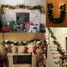 9 Ft Christmas Garland String Fairy Lights Fireplace Tree Decor Pre Lit Ed Xmas