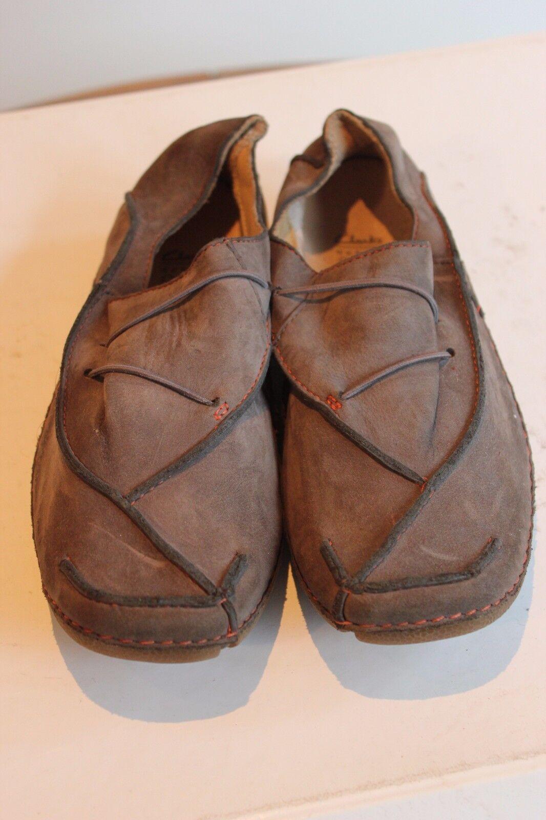 Clarks super bel grigio vera pelle slippers, Tg. 37/uk4