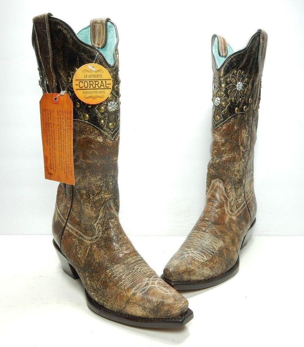 Felices compras Corral Cuello Y Y Y Arnés SNIP Toe Occidental botas, Para Mujer Talla  7.5 medio (B332)  en linea