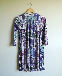 Women-039-s-Free-People-Flowy-Floral-Colorful-Swing-Dress-Size-XS
