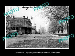 OLD-LARGE-HISTORIC-PHOTO-OF-HORNBROOK-CALIFORNIA-VIEW-OF-HORNBROOK-HOTEL-c1912