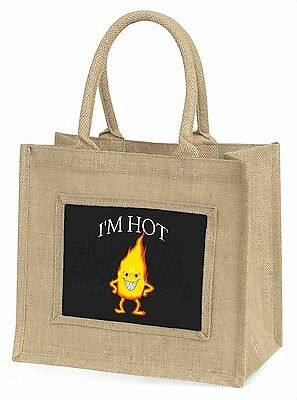 I'm Hot (Schwarz) Große Natürliche Jute-einkaufstasche Weihnachten , FUN-4BLN