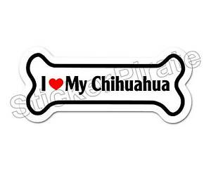 I-Love-My-Chihuahua-Dog-Bone-Bumper-Sticker-Decal-DB-178