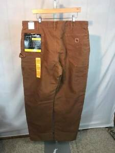 Carhartt B194 Sandstone Waist Overall Quilt Lined Inuslated Pants