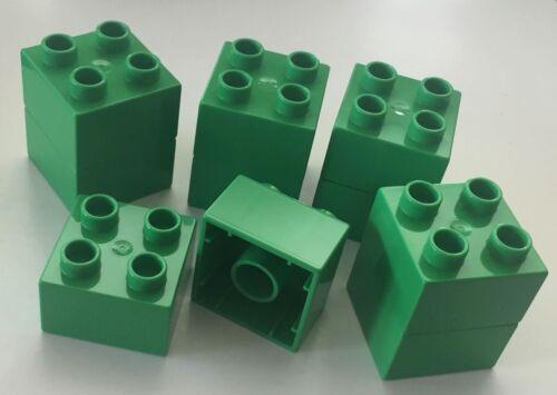 *NEW* 10 Pieces Lego DUPLO BRICK 2x2 BRIGHT GREEN