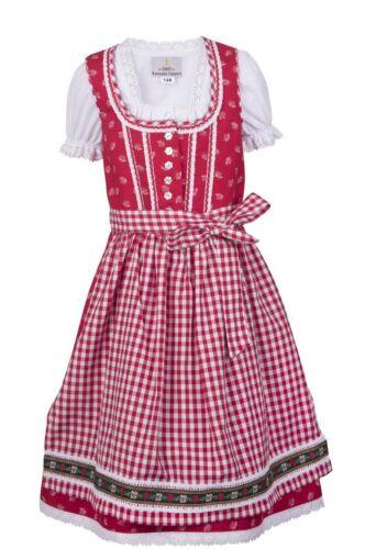 Ramona Lippert Kinderdirndl Alina rot Dirndl Mädchen Set 3-tlg