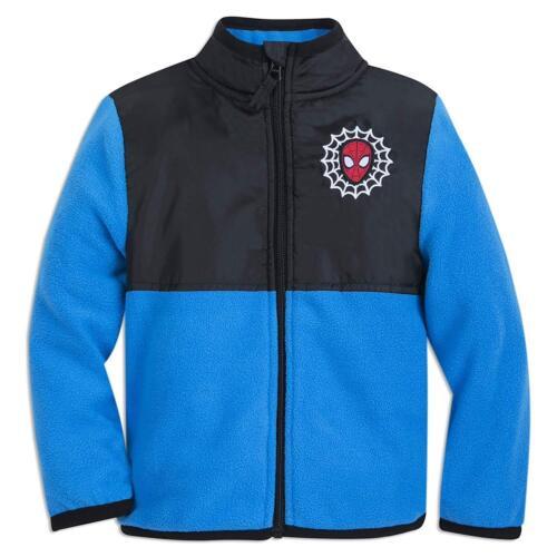 Disney Store Spiderman Boy Fleece Jacket Marvel Blue 7//8 9//10 New