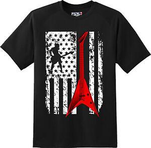 Guitar-Flag-Patriotic-American-T-Shirt-New-Graphic-Tee